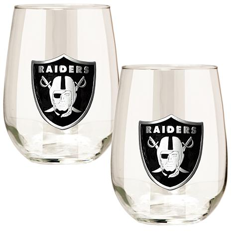 NFL 2-piece Wine Glass Set - Oakland Raiders