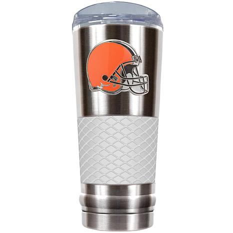 NFL 24 oz. Stainless Steel/White Draft Tumbler - Browns