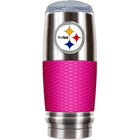 NFL 30 oz. Stainless/Pink Reserve Tumbler - Steelers