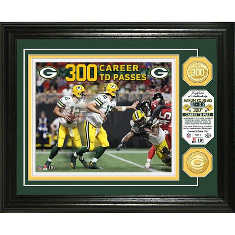NFL Aaron Rodgers 300th Career Touchdown Pass Photo Mint