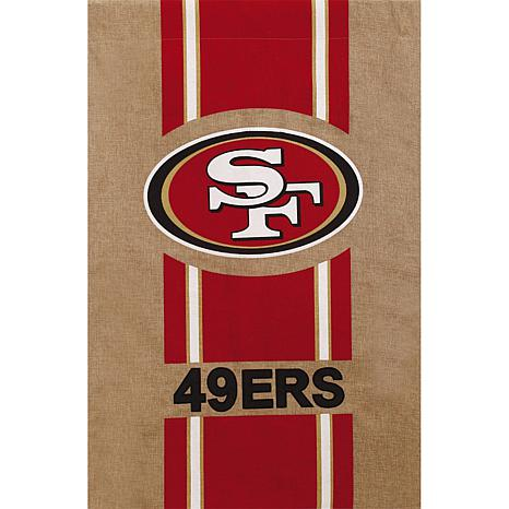 NFL Burlap House Flag - 49ers
