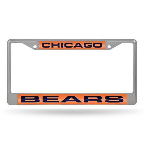 NFL Laser-Cut Chrome License Plate Frame - Bears
