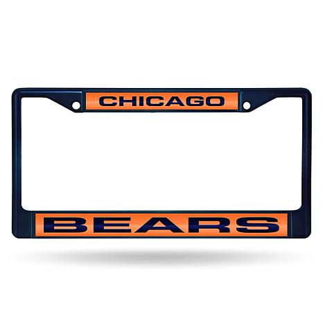 NFL Laser-Cut Chrome License Plate Frame -  Bears