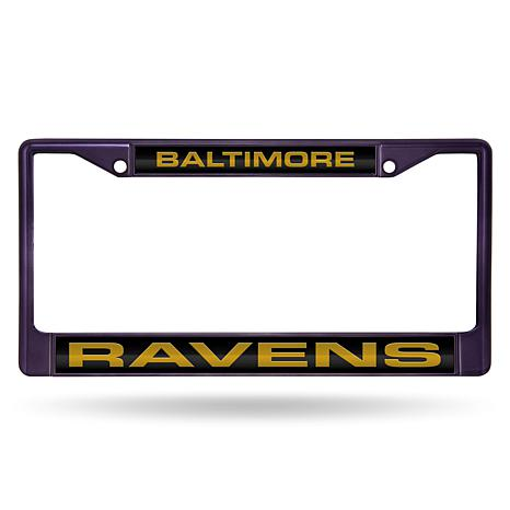 Officially Licensed Nfl Laser Cut Chrome License Plate