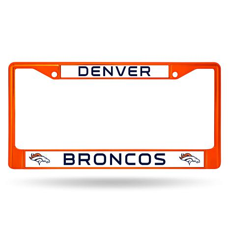 Officially Licensed NFL Orange Chrome License Plate Frame - Broncos ...