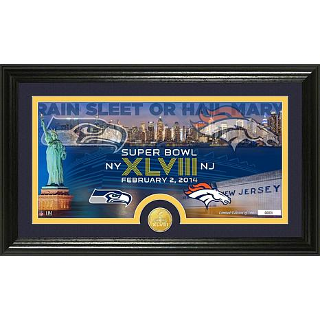 NFL Super Bowl XLVIII Bronze Coin Panoramic Photo Mint