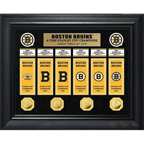 NHL Bruins 6-Time Stanley Cup Champs Deluxe Banner