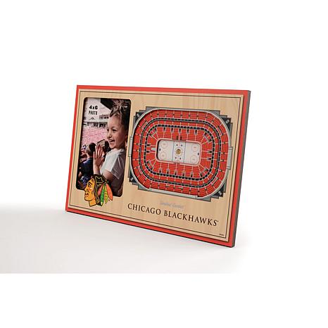 NHL Chicago Blackhawks 3-D Stadium Views Picture Frame