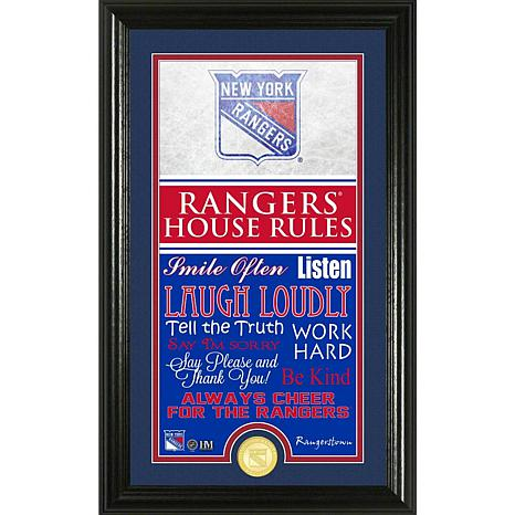 NHL House Rules Supreme Bronze Coin Photo Mint - New York Rangers