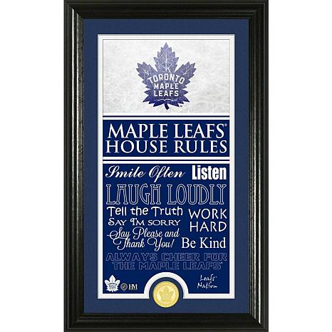 NHL House Rules Supreme Bronze Coin Photo Mint - Toronto Maple Leafs