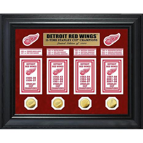NHL Red Wings 11-Time Stanley Cup Champs Deluxe Banner