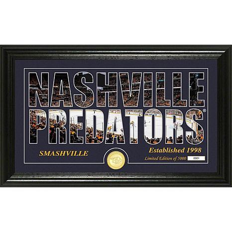 NHL Silhouette Panoramic Bronze Coin Photo Mint - Nashville Predators