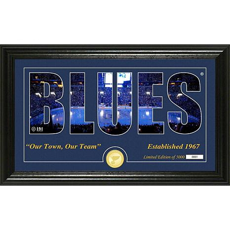 NHL Silhouette Panoramic Bronze Coin Photo Mint - St. Louis Blues