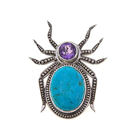 "Nicky Butler 1.45ctw Gem ""Spider"" Pin/Pendant"