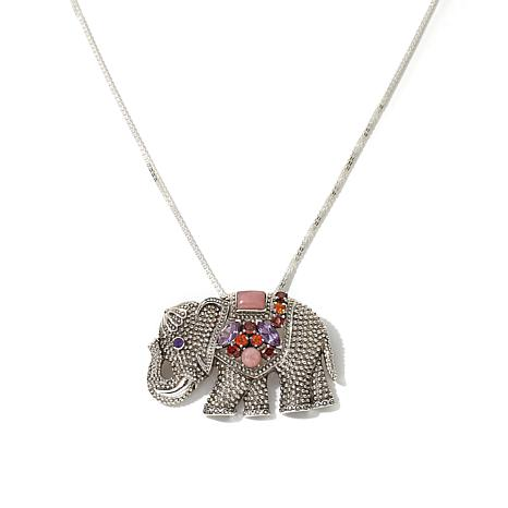 "Nicky Butler 2ctw Multigemstone ""Elephant"" Pin/Pendant"