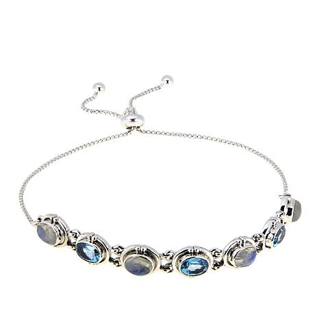 Nicky Butler 3.60ctw Moonstone and Sky Blue Topaz Oval Bracelet