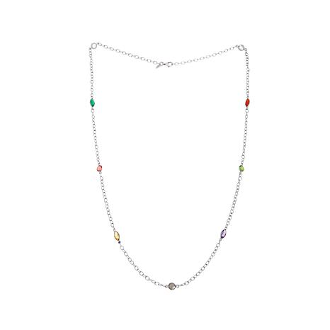 Nicky Butler 6.80ctw Multigemstone Station Necklace