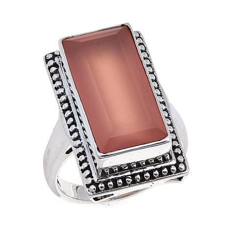 Nicky Butler 6.95ctw Pink Chalcedony Rectangular Ring