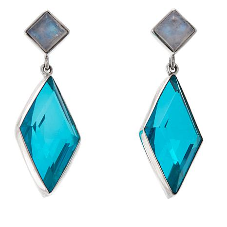 Nicky Butler Caribbean Quartz Triplet and Gem Earrings