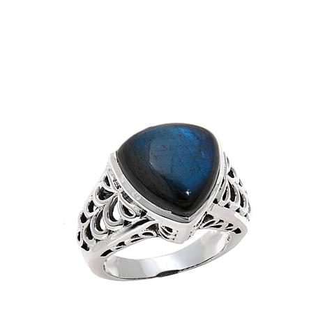 Nicky Butler Labradorite Triangular Solitaire Ring