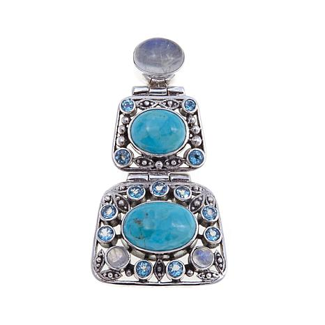 Nicky Butler Mojave Turquoise and Multigem Pendant