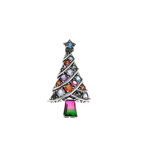 Nicky Butler Multigem Christmas Tree Pin/Pendant