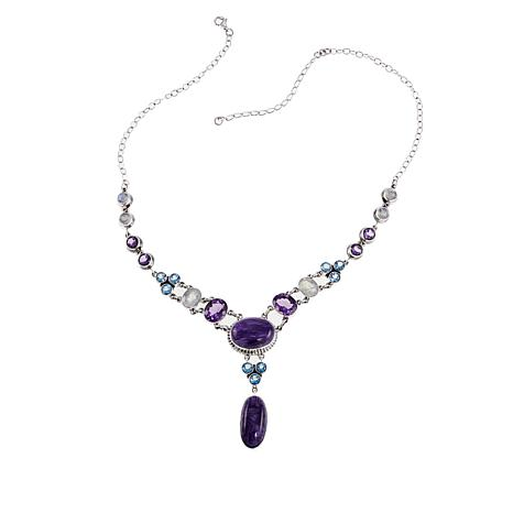 "Nicky Butler Raj 17.9ctw Charoite and Multigemstone 17"" Necklace"