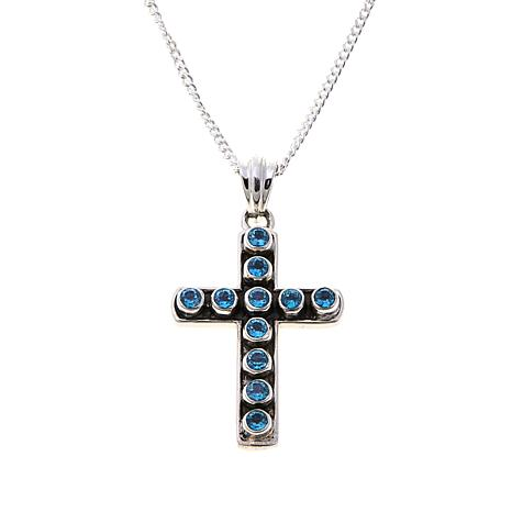 Nicky Butler Sky Blue Topaz Cross Pendant