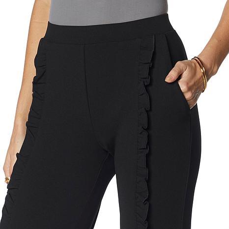 ecce1186452 Nina Leonard High-Tech Crepe Skinny Pant with Ruffle - 8854439