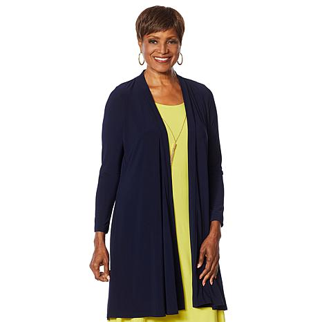 Nina Leonard Miracle Matte Duster Cardigan with Back Tie
