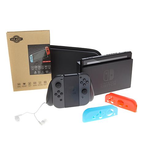 Nintendo Gray Switch Bundle with Accessory Bundle