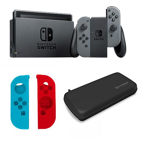 Nintendo Switch Gray Bundle with Travel Case and Silicone Sleeves
