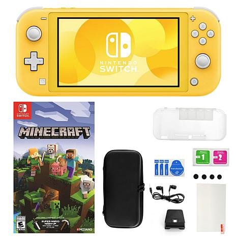 Nintendo Switch Lite In Yellow With Minecraft Game And Accessories