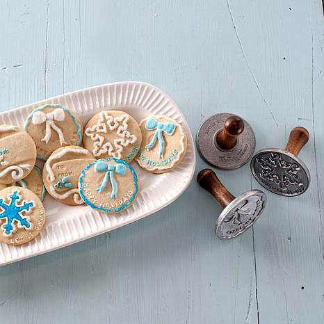 Nordic Ware Cast Aluminum 3-piece Holiday Cookie Stamps - 8031932 ...