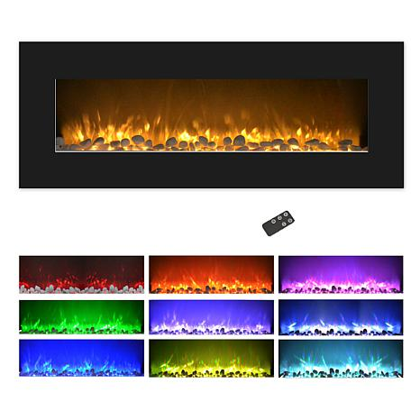 Northwest 50 Quot Color Changing Led Electric Fireplace With Remote