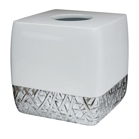 Nu-Steel Bali White Boutique Tissue Holder