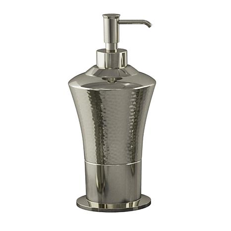 Nu-Steel Classic Hammered Stainless Steel Soap/Lotion Dispenser