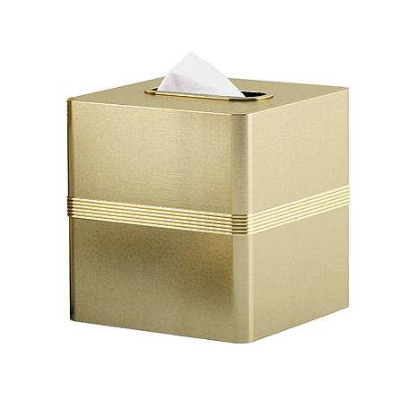 Nu-Steel Jewel Gold Boutique Tissue Holder