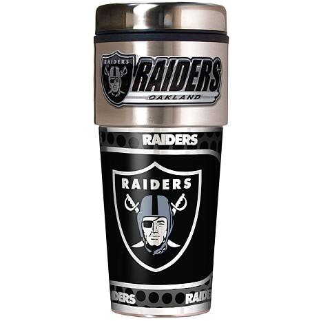 Oakland Raiders Travel Tumbler w/ Metallic Graphics and Team Logo