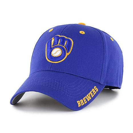 Officially Licensed MLB Frost Adjustable Hat  - Milwaukee Brewers