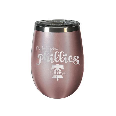 Officially Licensed MLB Rose Gold Wine Tumbler - Philadelphia Phillies