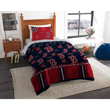 Officially Licensed MLB Twin Bed in a Bag Set - Boston Red Sox