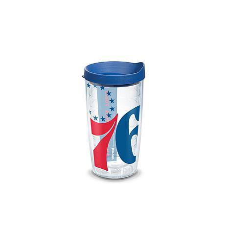 Officially Licensed NBA 16 oz Tumbler and Lid- Philadelphia 76ers