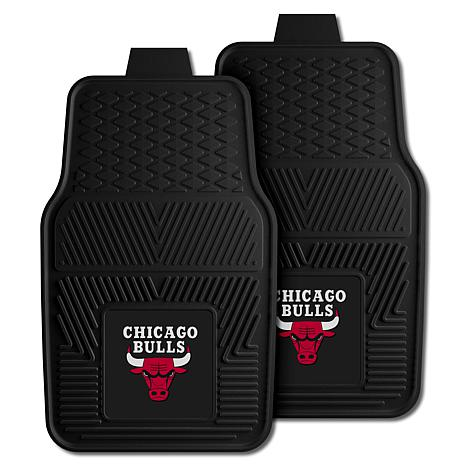 "Officially Licensed NBA 2pc Car Mat Set 17"" x 27"" - Chicago Bulls"