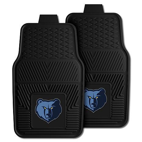 "Officially Licensed NBA 2pc Car Mat Set 17"" x 27"" - Memphis Grizzlies"