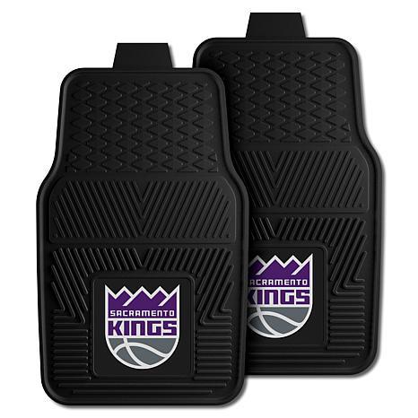 "Officially Licensed NBA 2pc Car Mat Set 17"" x 27"" - Sacramento Kings"