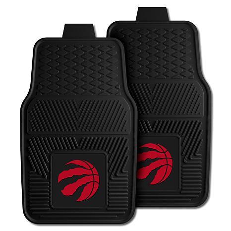 "Officially Licensed NBA 2pc Car Mat Set 17"" x 27"" - Toronto Raptors"