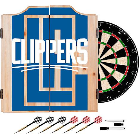 Officially Licensed NBA Dart Cabinet Set - Fade - Los Angeles Clippers