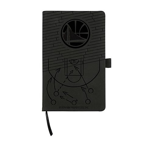 Officially Licensed NBA Engraved  Notepad With Elastic Band - Warriors