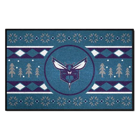 new arrival f4934 b14c7 Officially Licensed NBA Holiday Sweater Starter Mat- Charlotte Hornets